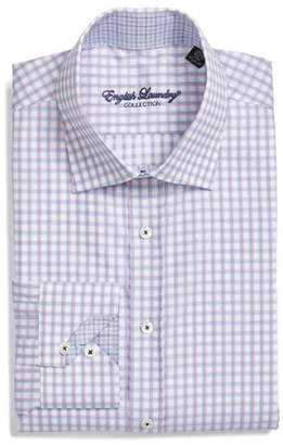 English Laundry Trim Fit Check Dress Shirt