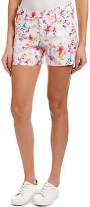 Level 99 Cassandra Citrus Floral Linen-Blend Short
