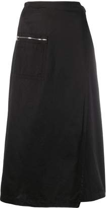 Our Legacy zipped pocket wrap skirt