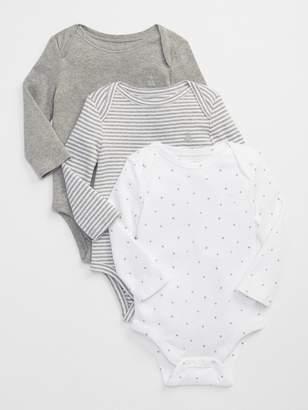 Gap Favorite starry long sleeve bodysuit (3-pack)