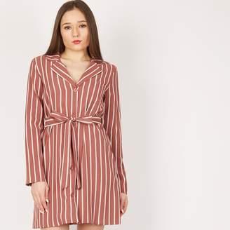MISSTRUTH - Pink Stripe Blazer Dress