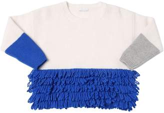 Il Gufo Fringed Wool Knit Sweater