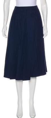 Muveil Pleated Midi Skirt