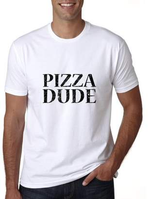 Hollywood Thread Trendy Pizza Dude Large Font Graphic Men's T-Shirt