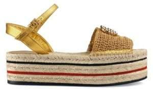 Gucci Women's Lilibeth Espadrille - Gold - Size 35.5 (5.5)