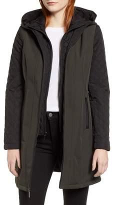 MICHAEL Michael Kors Quilted Sleeve Coat