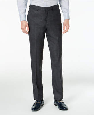 DKNY Men Slim-Fit Gray/Blue Plaid Suit Pants