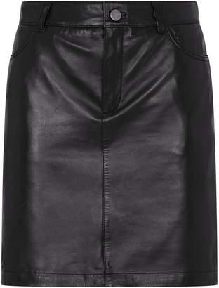 SET Leather Skirt