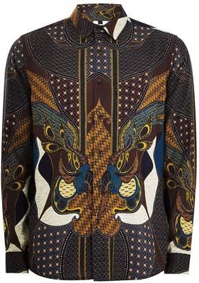 Topman Burgundy Baroque Shirt