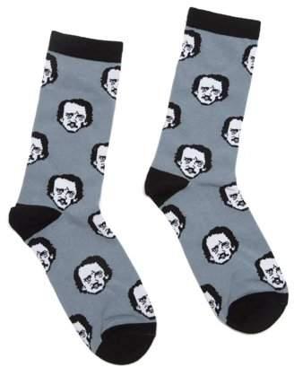 Out of Print Poe-Ka Dot Socks-Large: Socks-1005-04 (Other)