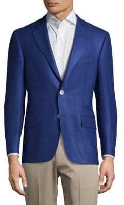 Hickey Freeman Milburn II Button-Front Textured Jacket