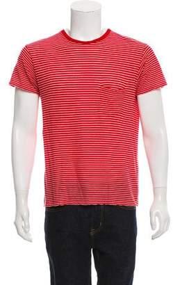 Saint Laurent Striped Short Sleeve T-Shirt