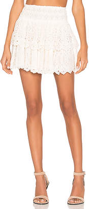 Free People Eyelet Mini Skirt
