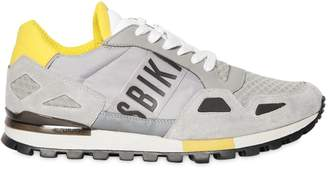 Bikkembergs Logo Suede & Nylon Running Sneakers
