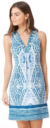 Hale Bob Quinby Sleeveless Jersey Dress Beaded