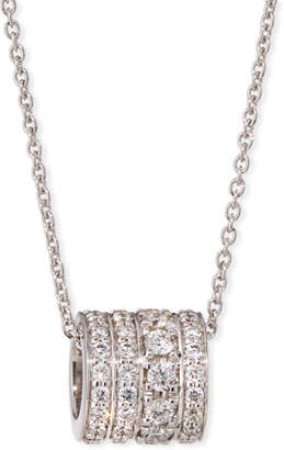 Roberto Coin 18k White Gold Diamond Rondelle Necklace