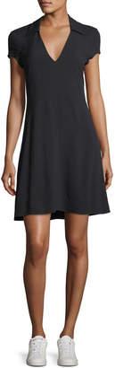 Theory V-Neck Rosina Crepe Easy Day Dress