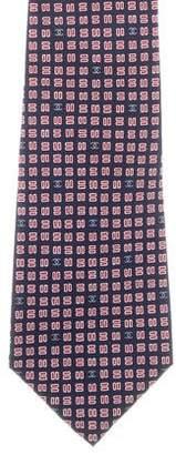 Chanel Silk Geometric Interlocking C Print Tie