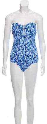 Melissa Odabash Printed One-Piece Swimsuit w/ Tags