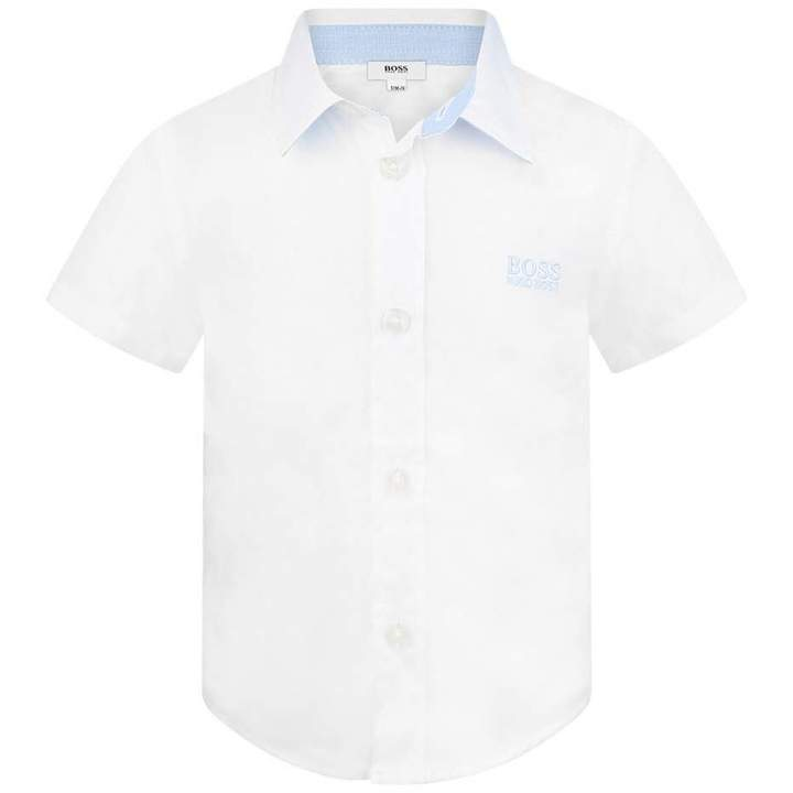 BOSS KidsBaby Boys White Short Sleeve Shirt