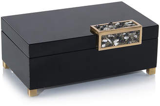John-Richard Collection Box w/Stone Accent - Black/Silver