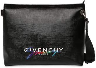 Givenchy Logo Coated Canvas Messenger Bag