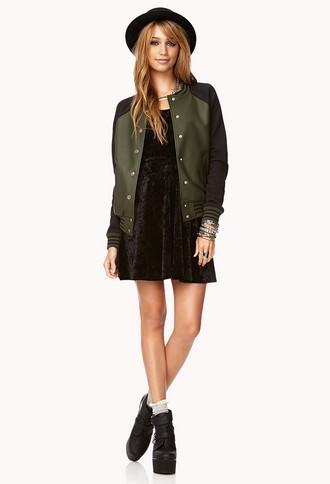 Forever 21 Faux Leather Varsity Jacket