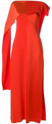 Diane von Furstenberg draped sleeve shift dress