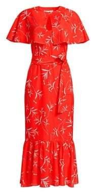 DAY Birger et Mikkelsen Borgo de Nor Margarita Printed Midi Dress with Capelet
