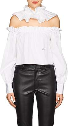 Women's 2-In-1 Cotton Poplin Collar & Blouse