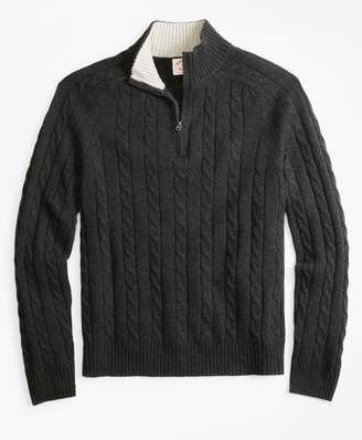 Brooks Brothers Wool-Blend Half-Zip Sweater