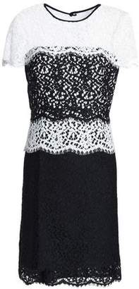 Milly Two-Tone Corded Lace Mini Dress
