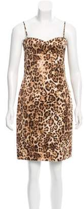 Michael Kors Leopard Print Sheath Dress Tan Leopard Print Sheath Dress