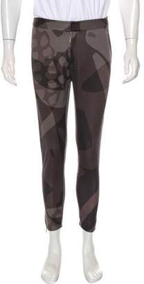 Alexander McQueen Zip-Accented Printed Pants w/ Tags