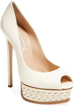 Casadei Leather Platform Pump