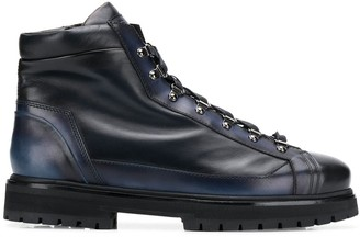 Santoni ankle lace-up boots