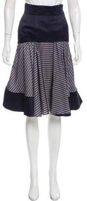 Sacai Striped Silk Skirt w/ Tags