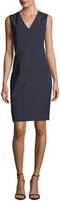 Elie Tahari Roanna V-Neck Sheath Dress