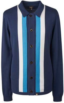 Pretty Green Striped Knitted Shirt
