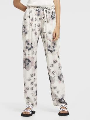 DKNY Floral Printed Tie-Waist Pant