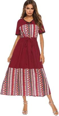 Shein V-neck Knot Front Pocket Hidden Dress