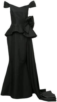 Bambah peplum flower gown