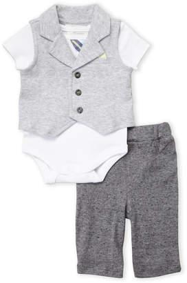 Baby Essentials Miniclasix (Newborn Boys) 3-Piece Knit Vest & Pants Set