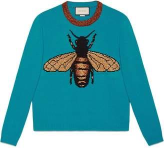 Gucci Bee wool knit sweater