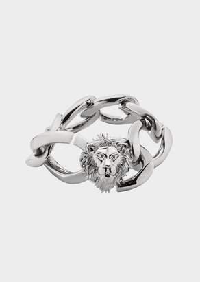 Versace Lion Head Chain Bracelet
