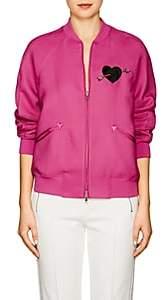 Valentino Women's Embellished Twill Bomber Jacket - Pink