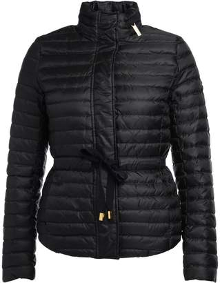 Michael Kors Quilted Black Fabric Down Jacket