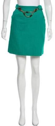 Milly Silk-Blend Mini Skirt