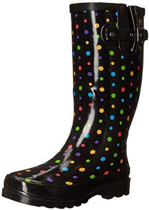 Western Chief Women's Dot City Rain Boot Black