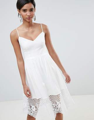 French Connection Lace Panel Jersey Dress